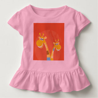 Designers little Tshirt Pink with Giraffe in Love