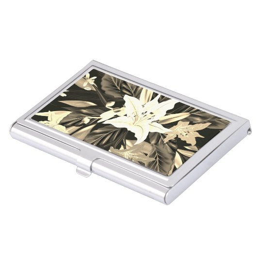 Designers luxury floral art Card holder Business Card Case