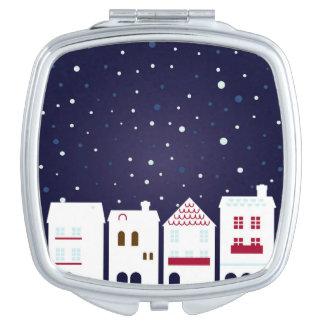 Designers mirror : Snowing town Vanity Mirror