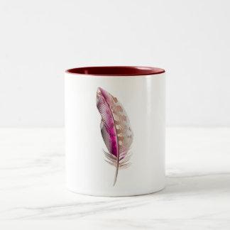 Designers mug with feather