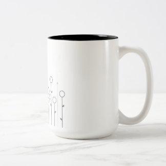 Designers mug with grass