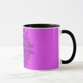 Designers mug with Mandala / pink