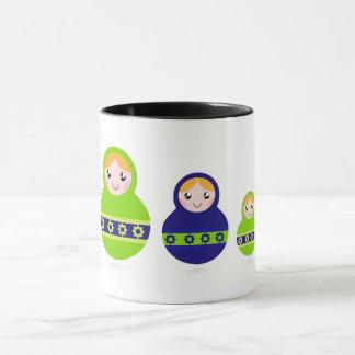 Designers mug with Matroskas