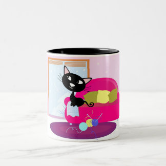 Designers mug with Vintage Cat