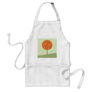 Designers orange tree on green standard apron