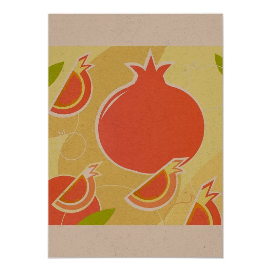 Designers paper greeting with Pomegranate Card
