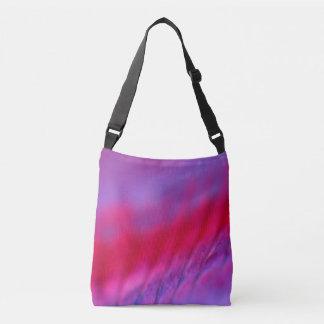 Designers photobag : black and purple crossbody bag