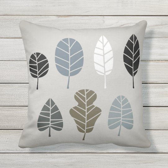 Designers Pillow with leaves