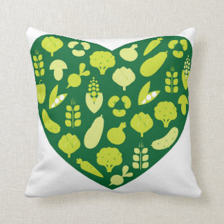 Designers pillow with Love vegetable heart