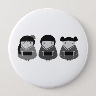 Designers plastic round : Geishas 4 Inch Round Button
