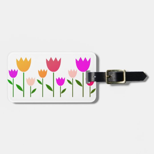 Designers price tag with Tulips