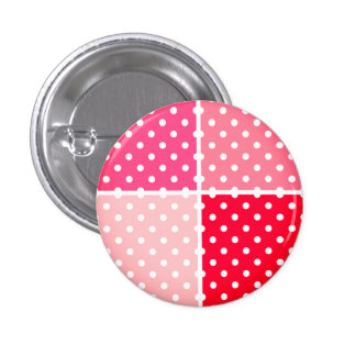 """Designers """"RED DOTS"""" Vintage stylish button"""