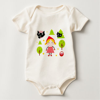 Designers red riding hood Edition Baby Bodysuit