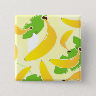 Designers square button with Banana