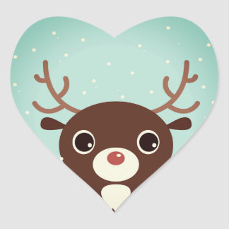 Designers sticker with cute Reindeer