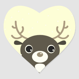 Designers sticker with Reindeer