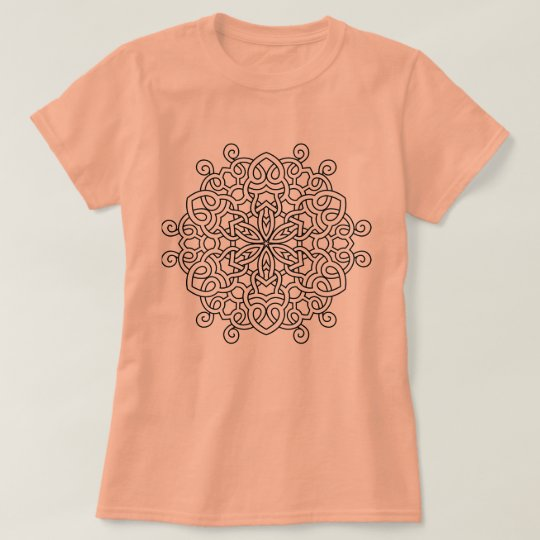 Designers SUMMER t-shirt with Mandala