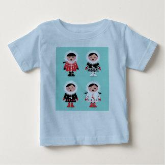 Designers t-shirt blue with Eskimos