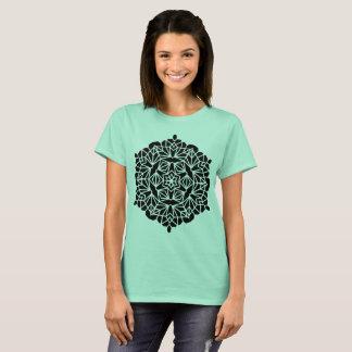 Designers t-shirt cyan with Mandala