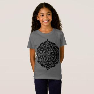 Designers t-shirt grey with mandala art
