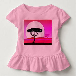 Designers t-shirt pink with Africa tree