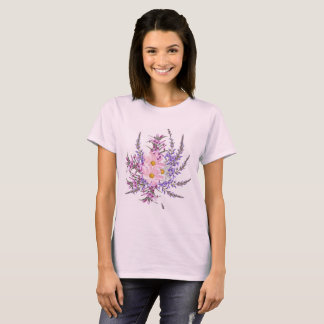 Designers t-shirt pink with herbs