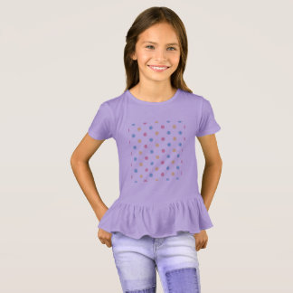 Designers t-shirt purple with Dots