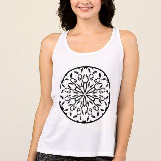 Designers t-shirt white with mandala