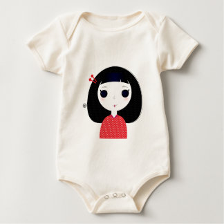 Designers t-shirt with Japan cute girl