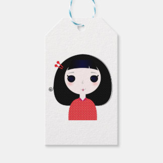 Designers t-shirt with Japan cute girl Gift Tags