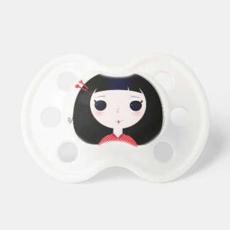 Designers t-shirt with Japan cute girl Pacifiers