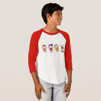 Designers t-shirt with Jumping kids