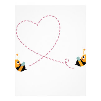 DESIGNERS t-shirt with Love bees Letterhead