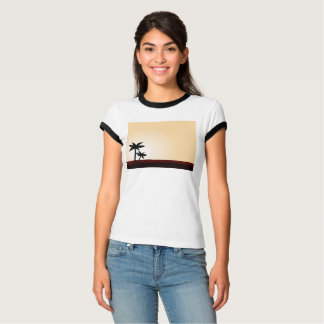 Designers t-shirt with palms