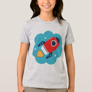 Designers t-shirt with Red rocket