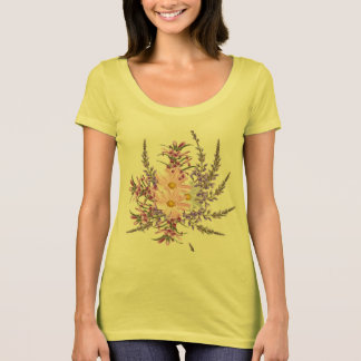 Designers t-shirt yellow with Herbs