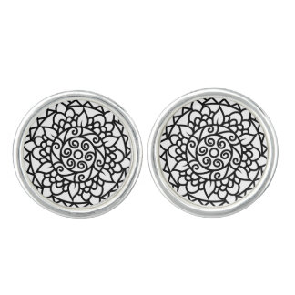 Designers tatoo cufflinks : black and white