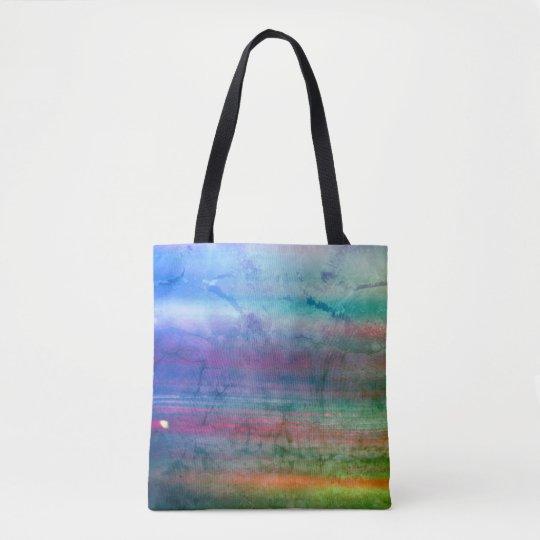 Designers tote bag : green Marble