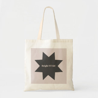 """Designers tote bag with """"Bright star"""""""