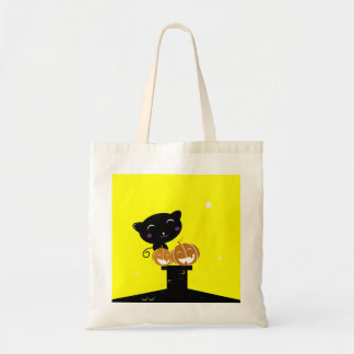 Designers tote Bag with Cat