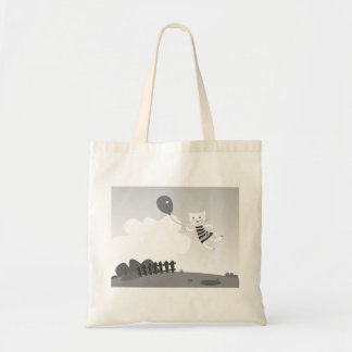 Designers tote bag with Kitten