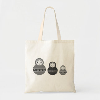 Designers tote bag with Matroskas