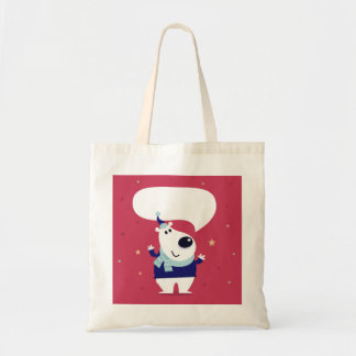 Designers tote bag : with Teddy Bear