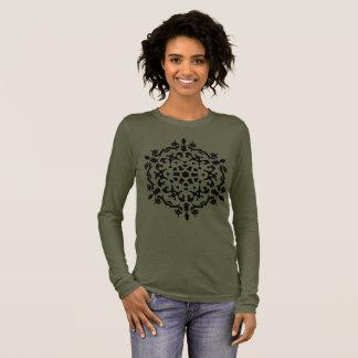 Designers tshirt brown with mandala art