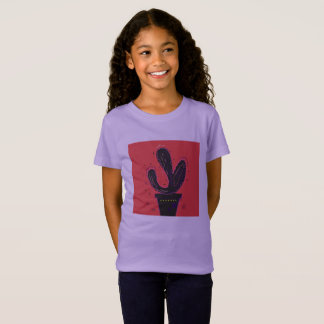 Designers tshirt for girl : Cacti plant