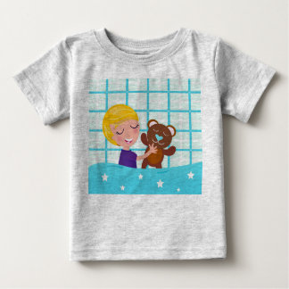 Designers tshirt grey with little baby