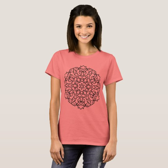 Designers tshirt : losos with Mandala art