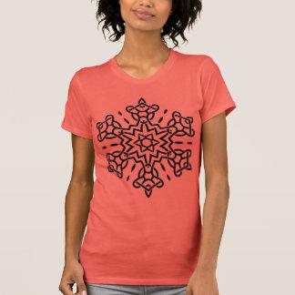 DESIGNERS tshirt orange with black Mandala