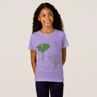 Designers tshirt purple Lavender with Gingko