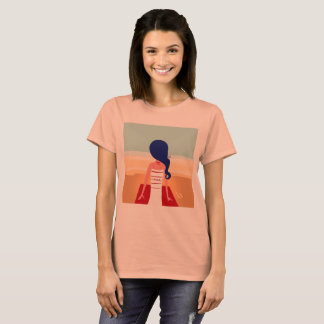 Designers tshirt with Beach girl